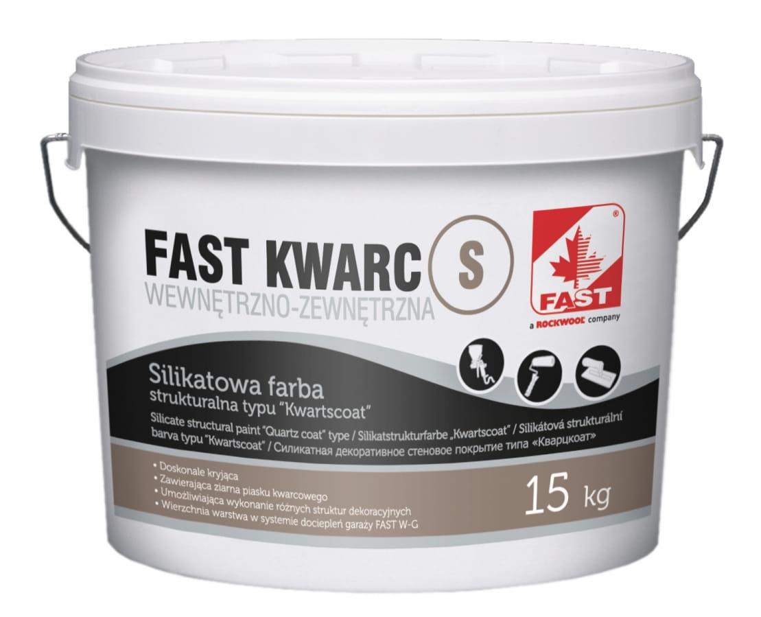 Fast Kwarc S Silikatowa Farba Strukturalna Zewnętrzna 15kg